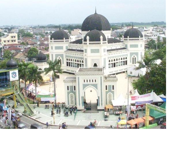 Great Mosque of Medan Tourist Place in Sumatra
