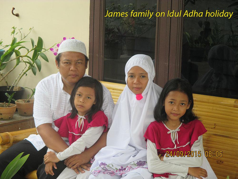 James Family on Idul Adha Holiday